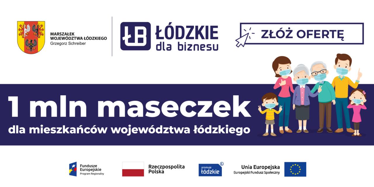 Milion maseczek dla mieszkańców Łódzkiego – złóż ofertę