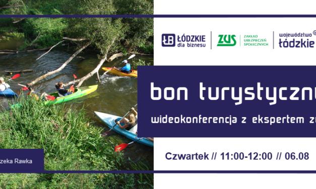 Bon turystyczny w pytaniach i odpowiedziach – wideokonferencja z ekspertem z ZUS I Oddział w Łodzi