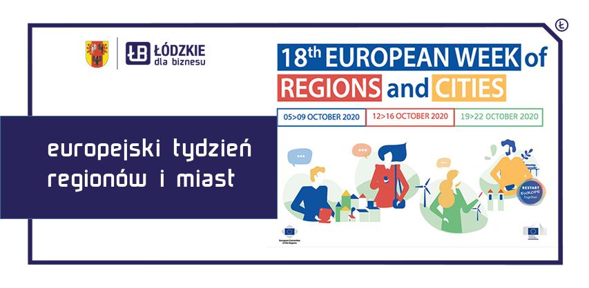 18 Europejski Tydzień Regionów i Miast – edycja 2020