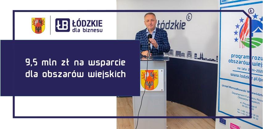 Dodatkowe 9,5 miliona złotych na wsparcie dla obszarów wiejskich w Łódzkiem