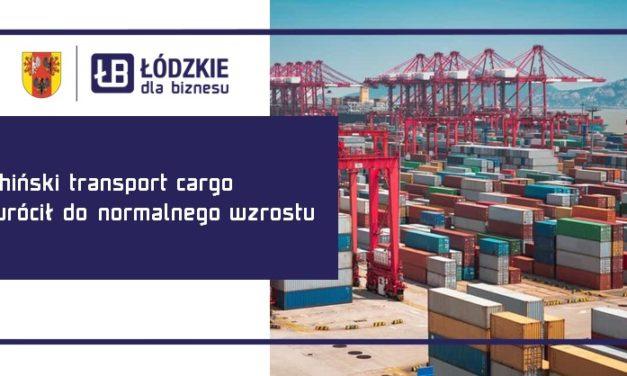 Chiński transport cargo wrócił do normalnego wzrostu