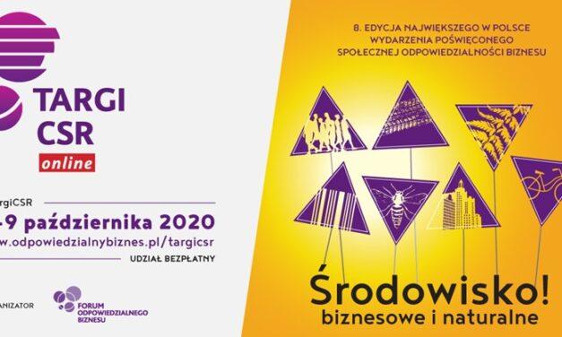 """Targi CSR 2020 -""""Środowisko! biznesowe i naturalne"""""""