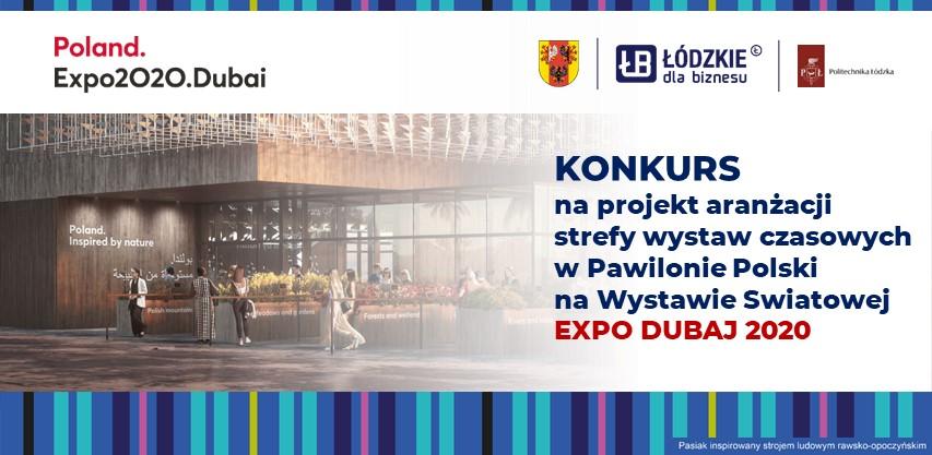 Konkurs na projekt aranżacji strefy wystaw czasowych w pawilonie polski na EXPO DUBAJ 2020