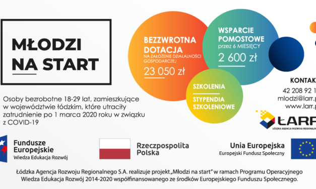 """Rusza II edycja projektu ŁARR """"Młodzi na start"""". Bezzwrotna dotacja na założenie własnej firmy!"""