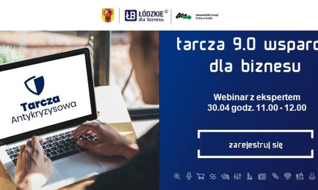 """Webinar z ekspertem """"Tarcza Antykryzysowa 9.0 – wsparcie dla biznesu"""""""