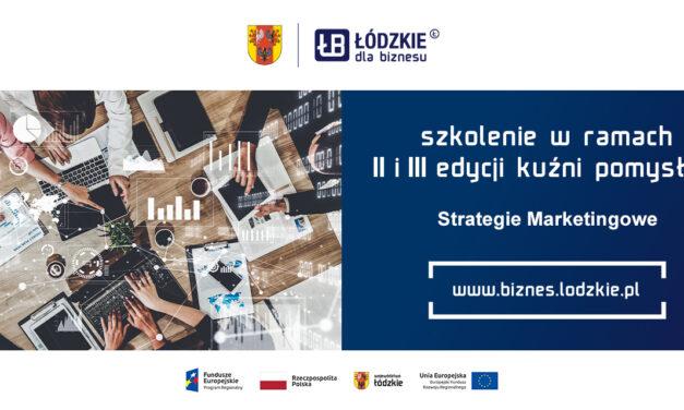 Strategie Marketingowe – Szkolenie II i III Edycji Kuźni Pomysłów