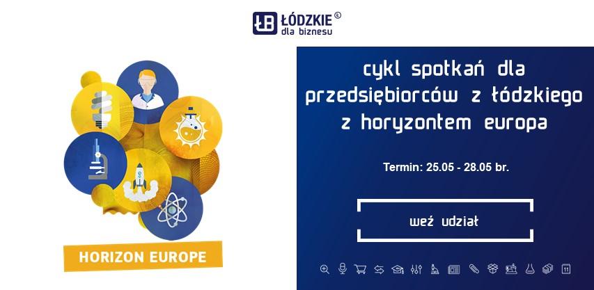 Spotkania przedsiębiorców z województwa łódzkiego z Horyzontem Europa 25-28 maja 2021