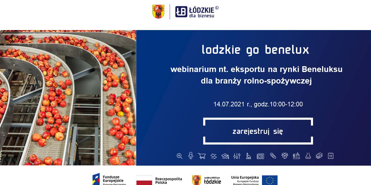 """Webinarium p.t. """"Sektor spożywczy w Belgii – jakie polskie produkty spożywcze mogą zaistnieć w Beneluksie?"""""""